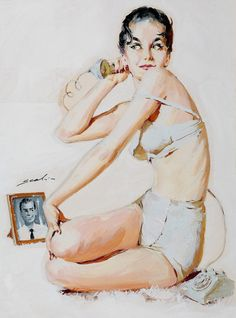 Pin up Mauro Scali Pin Up Illustration, Illustrations, Mind Unleashed, Calendar Girls, Moda Vintage, Pin Art, Couple, Pin Up Style, Retro Art