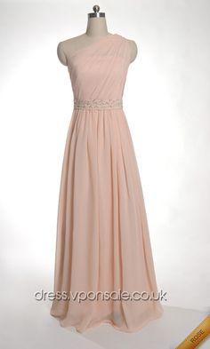 One Shoulder Chiffon Pleated A-line Prom Dress DVP0073 #one shoulder #vponsale