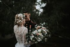 THIS WEDDING // The epitome of the modern bohemian bride, Halle's wedding was filled with the details we only dream of! This dark moody, stylish affair has us all dreaming of our own eclectic wedding. Halle's looked breathtaking in our 'Tillie' lace crop and 'Alexia' skirt two-piece combination gown, which she purchased from @ellebridalboutique in San Diego, CALIFORNIA • Venue - Ethereal Open Air Resort Photos - Andrea Stewart • Photography - @astewyy • Flowers: Modern Bouqet Reposted Via…