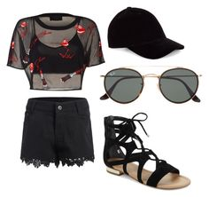 """Untitled #17"" by bsubotnicu ❤ liked on Polyvore featuring Saks Fifth Avenue, Le Amonie and Ray-Ban"