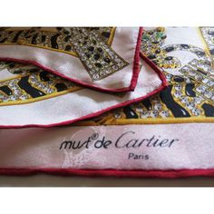 c080b4a44dde seta, scarf, sciarpa, seidentuch, MUST DE CARTIER, Foulard écharpe en Soie