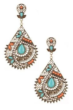 coral, turquoise and bling.  i would have to see how heavy they are tho!