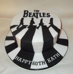 Pastel con diseño de The Beatles