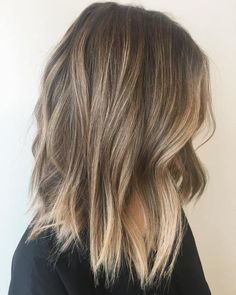 35 Balayage Hair Color Ideas for Brunettes in The French hair coloring tec. - - 35 Balayage Hair Color Ideas for Brunettes in The French hair coloring technique: Balayage. These 35 balayage hair color ideas for brunettes in . Balayage Hair Dark Blonde, Fall Blonde Hair, Balayage Lob, Dark Blonde Hair Color, Ombre Hair Color, Hair Color Balayage, Cool Hair Color, Hair Colors, Subtle Balayage