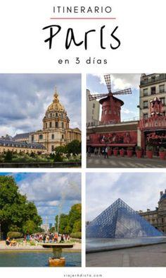 Itinerario paris 3 dias Taj Mahal, Louvre, Tower, Europe, Building, Travel, Koh Tao, Languages, Viajes