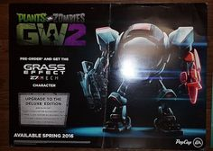 PLANTS VS ZOMBIES GW2  GRASS EFFECT 27 MECH CHARACTER PROMOTIONAL POSTERBOARD