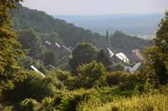 Landskap i Vallonia, Belgia.