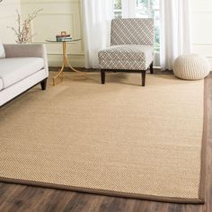Natural Fiber Maize/Brown (Yellow/Brown) 8 ft. x 10 ft. Area Rug