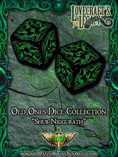 """""""Shub-Niggurath"""" Old Ones Dice Design"""