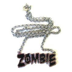 Black Zombie Pendant - Alternative, Gothic, Emo Clothing ❤ liked on Polyvore