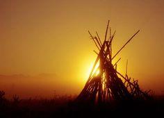 April 2, 2012: TeePee Sunrise, photo by Chris Poldervaart