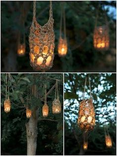 This would be cool to hang from the trees out front to go with peter pan theme.  Crochet.