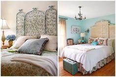 Utilize o biombo como cabeceira e deixe sua cama ainda mais bonita!