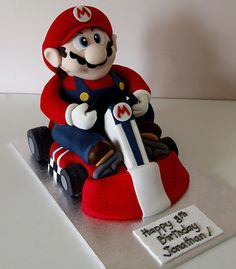 Mario Kart Cake.  Spectacular cake inspired by racing video games from Nintendo.