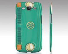 Groovy - Samsung Galaxy S3 Case, iPhone - VW, aqua, teal, bus, microbus, hippie, hipster, boho