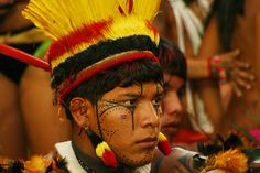Yawalapiti - The Yawalapiti  people lives in the southern portion of the Xingu Indigenous Park, an area that became known as the Upper Xingu. Brazil