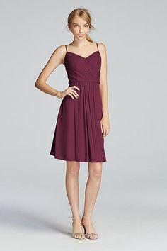 Mesh Spaghetti Strap Short Dress with V-Neckline W10942