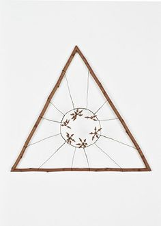 Mari Andrews /Untitled 1228 (wood, wire and pods)2003. drawing    gorgeous. i want to make things like this and decorate my whole house with them.