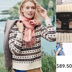 OFFERS❤️J CREW fair isle wool sweater XS UEC pre-owned J CREW wool sweater in mint condition. ✅ Accepting offers J. Crew Sweaters Crew & Scoop Necks