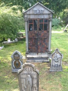 Last year as we conjured our graveyard back to the abyss, I placed within my mind the idea to redo our crypt. And so as our most savored season approaches , my darling vampire and I rebuilt our beloved crypt. And here is what we came up with. To So see the crypt 1.0 you can visit horroween333.com. We also reprinted many of our tombstones to match so all within is in the same horrific palette.
