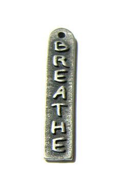 Pendant Pewter Breathe Charm beading supplies by catsarelove, $2.70