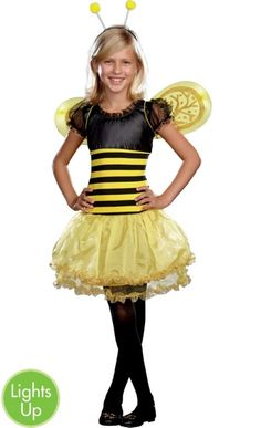 Girls Bee Light-Up Busy Lil Bee Costume - Party City  sc 1 st  Pinterest & Adult Fairy Bumble Bee Costumes - Adult Halloween Costumes ...