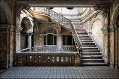 Palace K. (jeanny mueller) Tags: palast palace urbex lostplaces forgotten old marode verlassen säulen treppe stairs mosaik rahmen gebäude architektur krowiarki polen poland