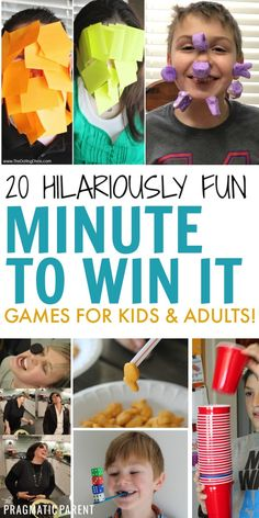 Family Fun Night: 20 Minute to Win it Games for Kids & Adults