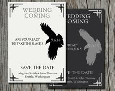 Game of Thrones Save the Date - Printable Wedding Announcement