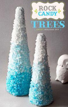DIY Christmas Tree Centerpieces
