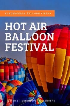 Albuquerque Balloon Fiesta, Large Balloons, Hot Air Balloon, Road Trips, Dawn, Youtube, Travel Photography, October, Sky