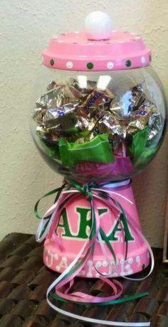Personalized AKA candy jar