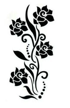 29 Ideas for wall stencil ideas flowers Stencil Patterns, Stencil Designs, Paint Designs, Drawing Stencils, Stencil Art, Deco Cuir, Glass Etching Stencils, Cnc Cutting Design, Plasma Cutter Art