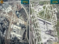 UPS's Air Hub in Louisville has changed quite a bit over the past 24 years! Louisville Airport, Parcel Delivery, United Parcel Service, Learning Styles, 24 Years, Airports, Kentucky, City Photo