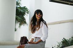 Hanna Stefanssons blogg på ELLE.se! Hanna Stefansson, Miami Photos, Photo Diary, Leather Skirt, Polka Dots, Stripes, Female, Skirts, Style