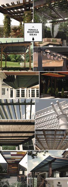 California house will need a pergola. Pergola Roofing Design Ideas: From the Natural to the Motorized Pergola Patio, Pergola Kits, Backyard Patio, Pergola Ideas, Vinyl Pergola, Rustic Pergola, Patio Ideas, Roof Ideas, Pergola With Roof