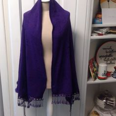 Cape type shawl Soft sweater like material ,LENTH from neck is 33 in  width 25 in. Jackets & Coats Capes