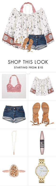 """Got chacos the other day+ shoutout set to @tropical-girl-xo"" by kyliegrace ❤ liked on Polyvore featuring beauty, Aerie, MANGO, Billabong, Kendra Scott, Maybelline, Urban Decay, Kate Spade and Alex and Ani"