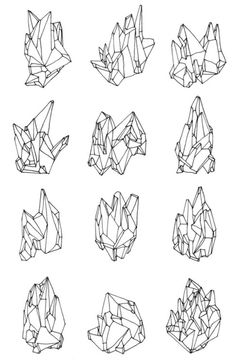 """""""Coleçao Mineral"""" by Carlos Vala These are so good. I love crystals but I'm finding them difficult to draw without a reference."""
