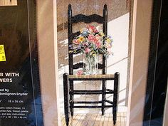 Dimensions Counted Cross Stitch Kit  Chair with by TreasuresPast4U, $18.50