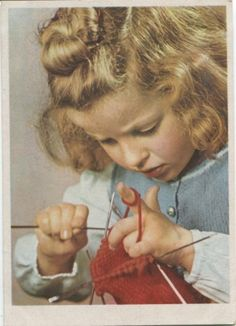 Soviet postcard 1951. Look at the cute pointing finger :) love the innocence and determination!! so sweet