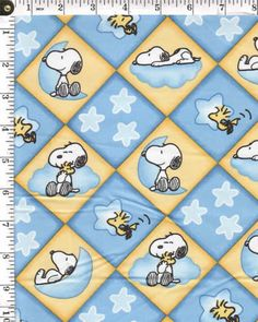 Peanuts Argyle Cotton fabric snoopy woodstock stars charlie Brown linus op Etsy, 5,58 €