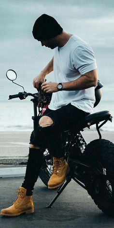 Trendy Mens Fashion, Stylish Mens Outfits, Suit Fashion, Urban Fashion, Skater Outfits, Tomboy Outfits, Timberland Boots Outfit, Timberlands, Men Casual