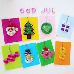 Christmas cards hama beads by husochbus