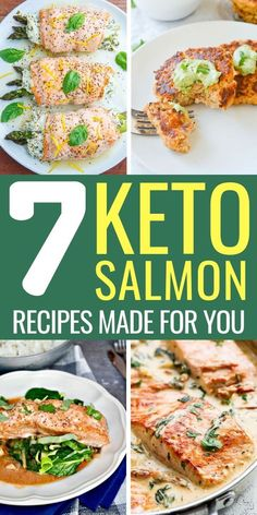 The 7 Best Keto Salmon Recipes EVER. Easy and healthy keto salmon recipes. All of them have dairy. Try these healthy keto salmon recipes today! Baked, Grilled or in Salad, you'll absolutely love these keto dinner recipes with salmon. Salmon Recipe Pan, Grilled Salmon Recipes, Healthy Salmon Recipes, Seafood Recipes, Diet Recipes, Healthy Low Carb Dinners, Diet Meals, Diet Foods, Salmón Keto
