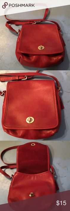 COACH LEATHER CROSSBODY BAG PURSE 8 by 9 AUTHENTIC PREOWNED GENTLY WORN VERY GOOD CONDITION COACH ALL LEATHER CROSSBODY BAG. ADJUSTABLE SHOULDER STRAP SIZE MEASURES 8 wide by 9 high AUTHENTIC COACH Bags Crossbody Bags