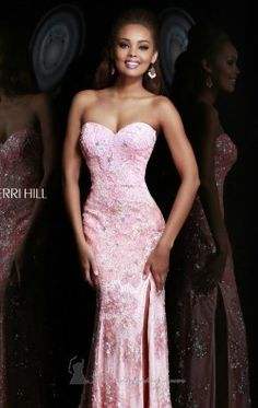 Beaded Slit Gown by Sherri Hill 9707