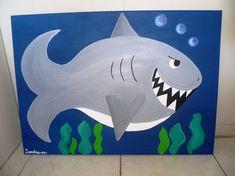Shark painting for kids room