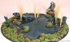 Miniature model making - making a swamp/pond out of a used CD