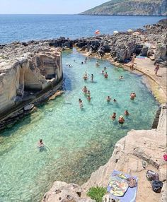 Puglia Italy natural swimming pool summer